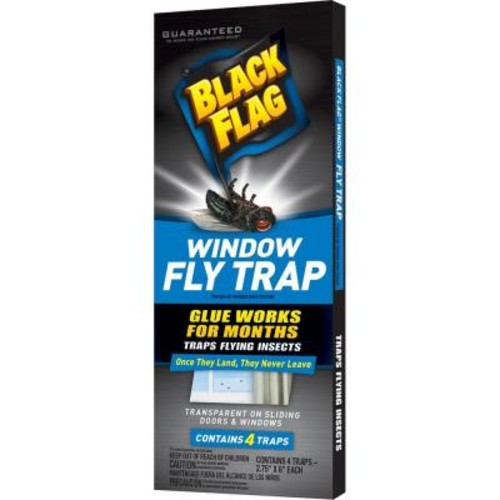 Black Flag Window Fly Trap (4-Pack)