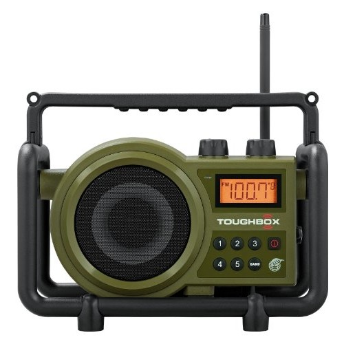Sangean TB-100 (Toughbox) AM/FM/AUX-In Ultra Rugged Digital Tuning Rechargeable Radio