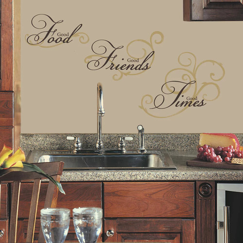 ROOMMATES RMK1692SCS Good Food Peel and Stick Wall Decals