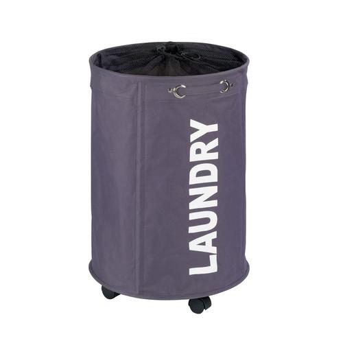 Wenko Rondo Grey Laundry Hamper