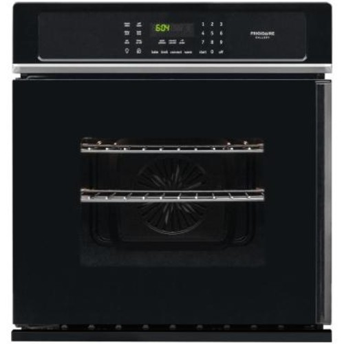 Frigidaire Gallery 27 in. Single Electric Swing-Door Wall Oven Self-Cleaning with Convection in Black