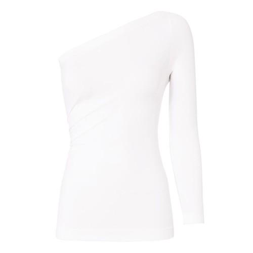 HELMUT LANG White One Shoulder Top