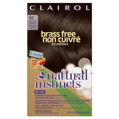 Clairol Natural Instincts Brass Free Hair Color