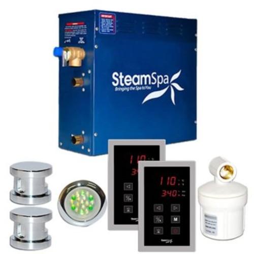 Steam Spa SteamSpa Royal 10.5 KW QuickStart Steam Bath Generator Package in Polished Chrome