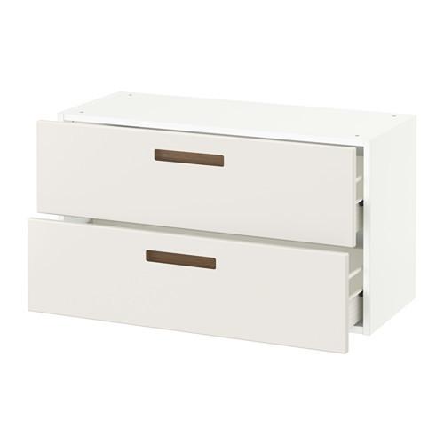 SEKTION Wall cabinet with 2 drawers, white Maximera, Veddinge white