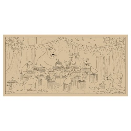 Lullubee Giant Coloring Mural - Animal Picnic