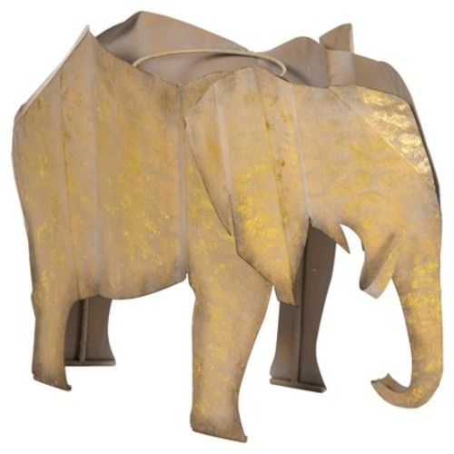 Bombay Outdoors Steel Elephant Planter