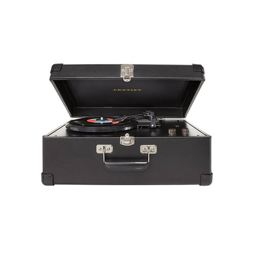 Crosley CR49-BK Traveler Turntable with Stereo Speakers and Adjustable Tone Control, Black [Black]