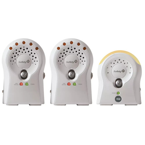 Safety 1st Sure Glow Audio Monitor (2 RX), White