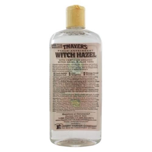 Thayers Witch Hazel Astringent with Aloe Vera, Peach, 12 Fl Oz