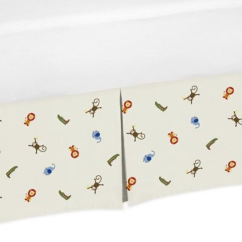 Sweet Jojo Designs Jungle Time Animal Print Crib Skirt