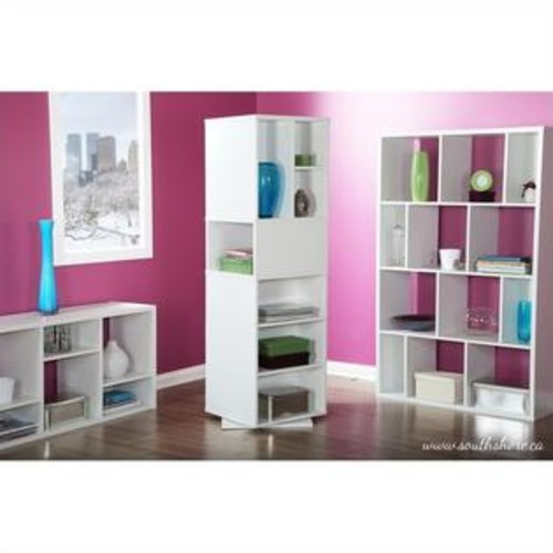 South Shore Reveal Shelving Unit with 8 Compartments in Pure White