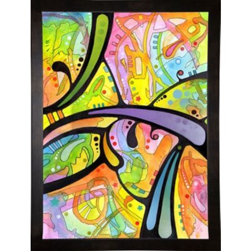 East Urban Home 'Abstract' Graphic Art Print; Cafe Espresso Framed