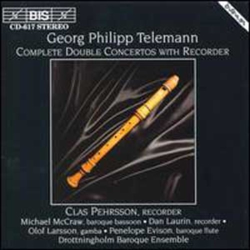 Telemann: Double Concertos with recorder By Clas Pehrsson (Audio CD)