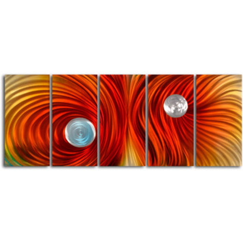 Eyes on Satin Twister 5 Piece Graphic Art Plaque Set