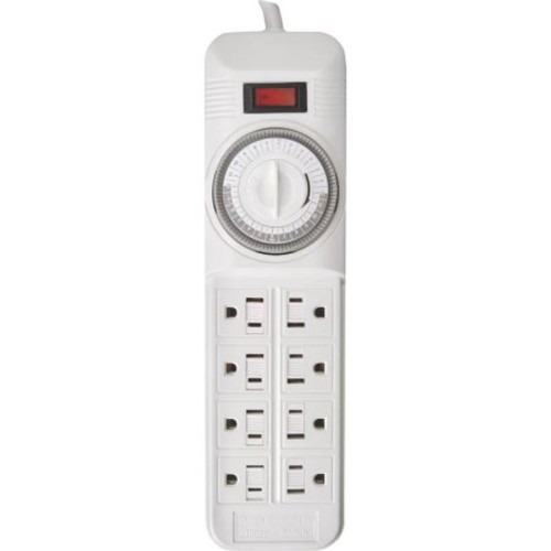 BAR PWR 8-OUTLET WHT