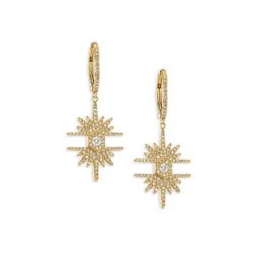 Lovebolt Burst Diamond & 18K Yellow Gold Earrings