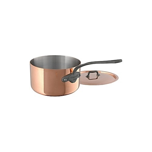 Mauviel 1830 M'150C2 Copper and Stainless Steel 0.8 qt. Covered Saucepan