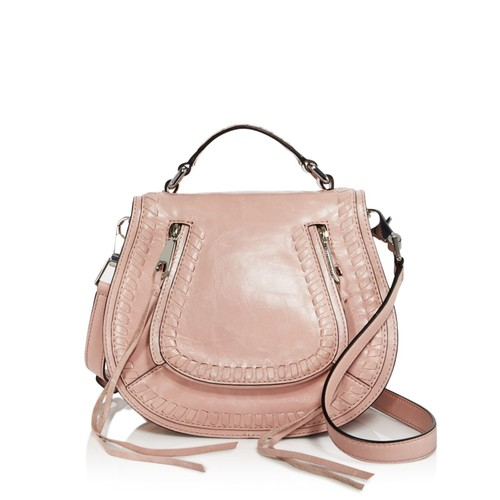 REBECCA MINKOFF Vanity Small Distressed Leather Saddle Bag