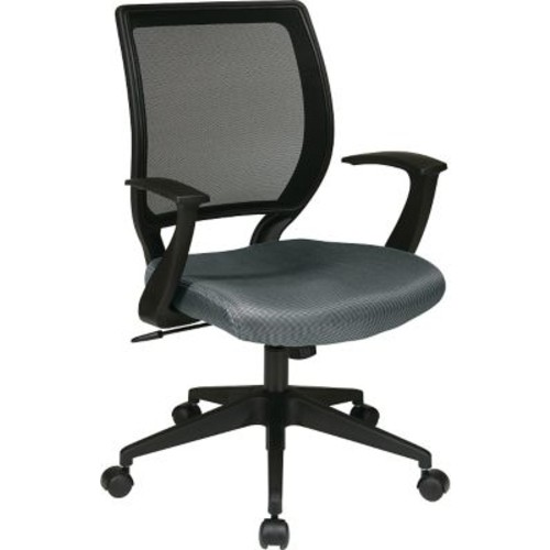 Office Star WorkSmart Polyester Black Screen Back Task Chair with