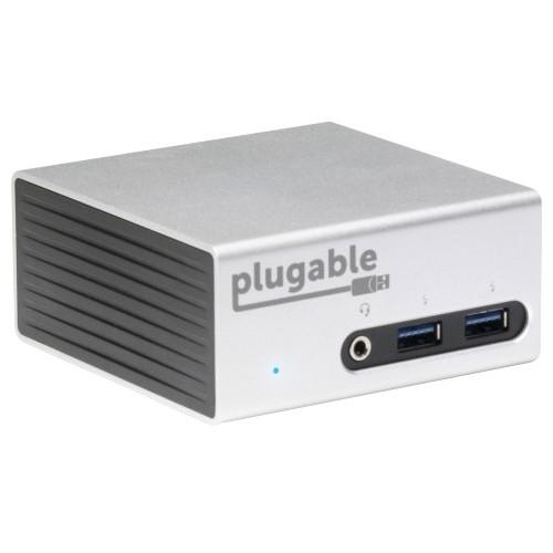 Plugable Ud-5900 Usb 3.0 4k Aluminum Mini Docking Station With Dual Video Outputs - For Notebook/tablet Pc/desktop Pc - Usb 3.0 - 4 X Usb Ports - 4 X Usb 3.0 - Network [rj-45] - Hdmi - Dvi - (ud-5900)