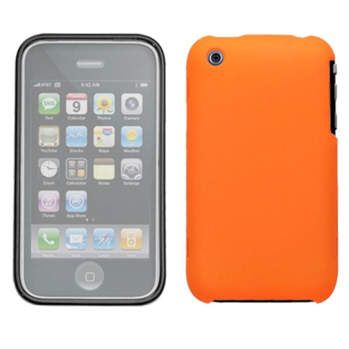 Insten Orange Phone Case (with Lens) (WL-SO207) For iPhone 3G/3GS