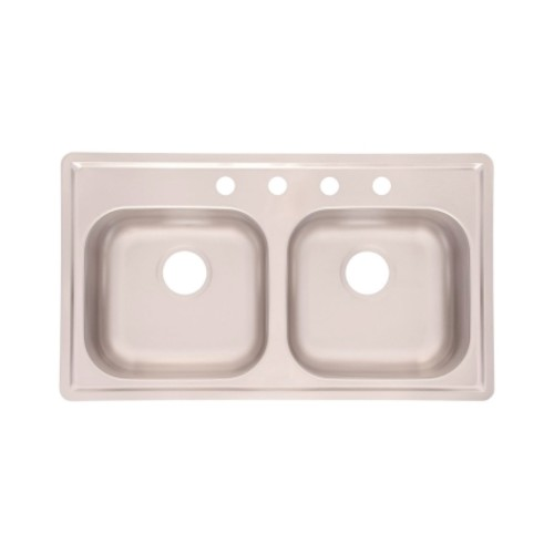Kindred Stainless Steel Stainless Steel Top Mount 33 in. W x 19 in. L Kitchen Sink Stainless St(FMSB
