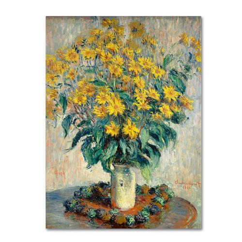Claude Monet 'Jerusalem Artichoke Flowers' Canvas Art