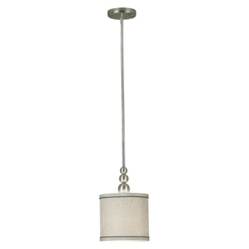 Kenroy Home 91641BS Margot 1 Light Mini Pendant, Brushed Steel Finish [Brushed Steel Finish]