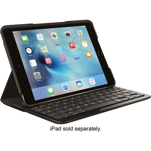 Logitech - Logi FOCUS Keyboard Folio Case for Apple iPad mini 4 - Black