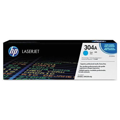 HP 304A Cyan Toner Cartridge (CC531A)
