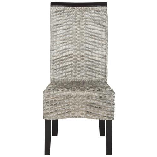 Safavieh Ilya Antique Gray Wicker Dining Chair - Set Of Two antique