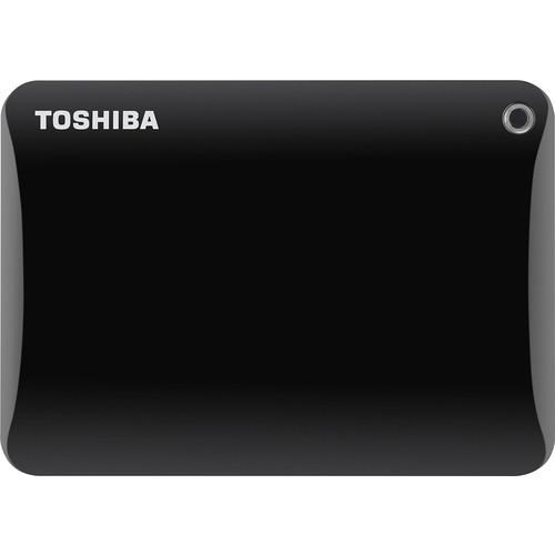 Toshiba - Canvio Connect II 2.5TB External USB 3.0 Portable Hard Drive - Black