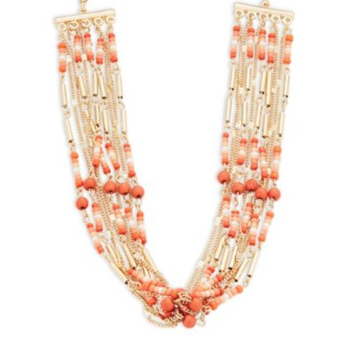 Beaded and Chain Multi-Row Necklace
