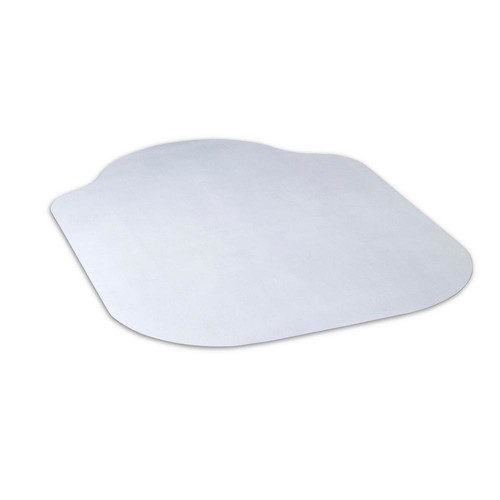 Dimex Evolve Modern Shape 36 in. x 48 in. Clear Office Chair Mat with Lip for Hard Floors, Phthalate Free