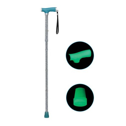 Drive Medical Folding Canes with Glow Grip Handle, Light Blue [Light Blue]
