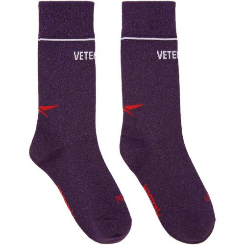Purple Reebok Edition Lurex Socks