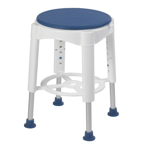 Drive Medical Bathroom Safety Swivel Seat Shower Stool, Blue