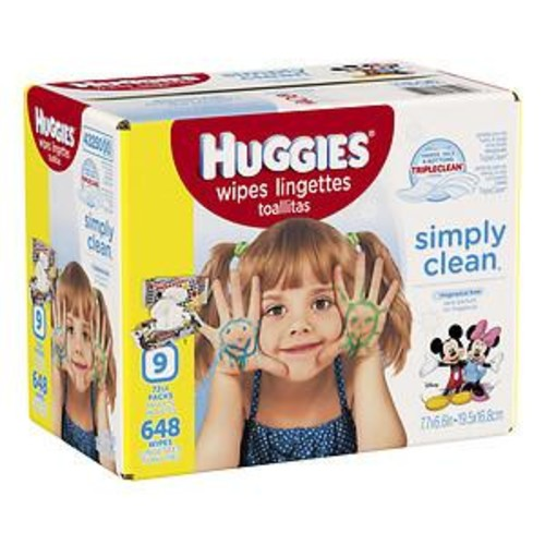 Huggies Simply Clean Simply Clean Baby Wipes, Unscented, Soft Pack