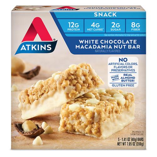 Atkins Snack Bars White Chocolate Macadamia Nut