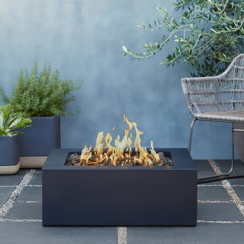 Real Flame Bryon 30 in. Steel Propane Fire Pit in Raven Black with Natural Gas Conversion Kit