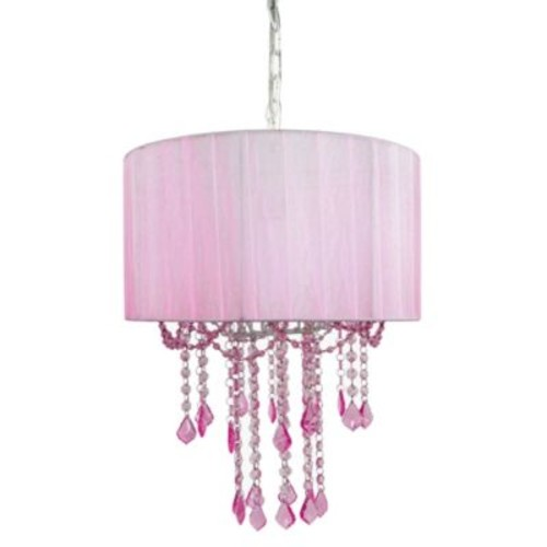 Tadpoles by Sleeping Partners 1-Bulb Shaded Chandelier in Pink