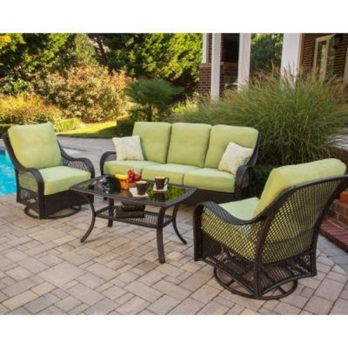 Hanover Outdoor Orleans 4 Piece Deep Seating Group with Cushions