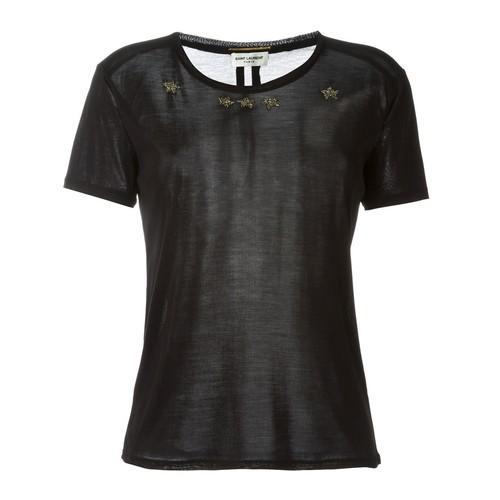 SAINT LAURENT Beaded Star T-Shirt