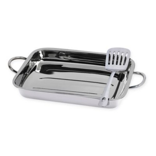 Tabletops Unlimited 2-Piece Stainless Steel Lasagna Pan Set