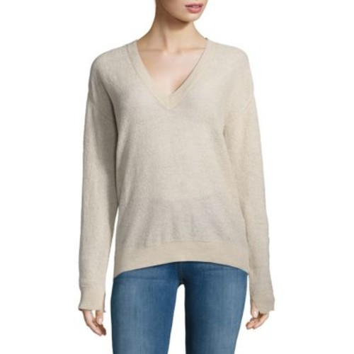 ZADIG & VOLTAIRE - Solid V-Neck Pullover