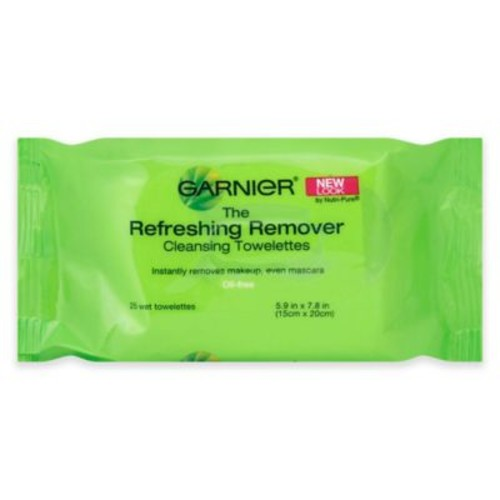 Garnier 25-Count Clean + Refreshing Remover Cleansing Towelettes Normal Skin