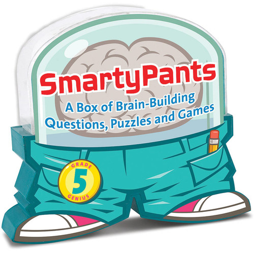 Melissa & Doug Smarty Pants 5th Grade Card Set - 120 Educational, Brain-Building Questions, Puzzles, and Games [5th Grade]