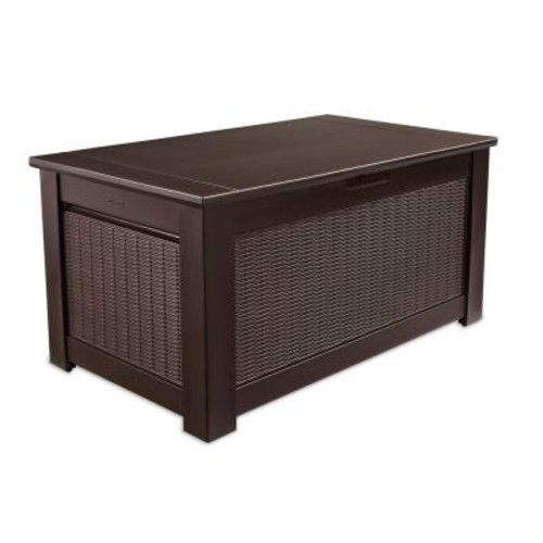 Rubbermaid 93 Gal. Bridgeport Resin Storage Bench Deck Box