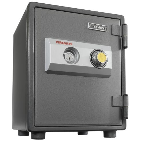 First Alert 2054F 1 Hour Steel Fire Safe with Combination Lock, 0.80 Cubic Foot, Gray [0.80 Cubic Foot]